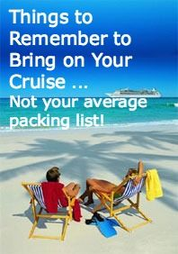 Not Your Average Cruise Packing List - all of the things you wouldn't think of!