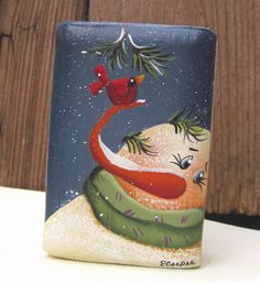 Hand Painted Santa Claus Upcycled Spatula by PaintingByEileen Painted Bricks Crafts, Brick Crafts, Painted Pavers, Painted Rocks, Hand Painted, Tole Decorative Paintings, Tole Painting, Christmas Signs, Christmas Snowman