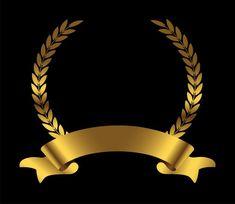 Gold laurel wreath with ribbon Premium V. Royal Background, Studio Background Images, Background Design Vector, Logo Background, Golden Awards, Design Art, Logo Design, Frame Border Design, Certificate Design
