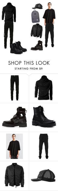 """Trapper ( slick & Lawrence )"" by karenna-designs on Polyvore featuring AMIRI, Hood by Air, Canvas by Lands' End, Unravel, LE3NO, Gucci, Herschel Supply Co., men's fashion and menswear"