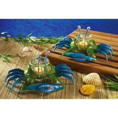 Blue Crab String Lights : Solar Fiber Optic Fountain Light Stake Tropical party, Fountain lights and Solar