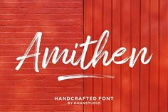 Amithen Brush Font by dhanstudio on @creativemarket