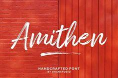 Amithen Brush Font by dhanstudio on @creativemarket