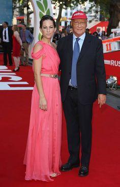 Formula 1 World Champion, Niki Lauda and his wife Birgit attend the RUSH world premiere