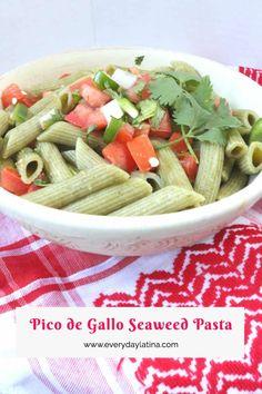 Pico de Gallo Seaweed Pasta - Everyday Latina Healthy Mexican Recipes, Italian Recipes, Mexican Food Recipes, Latin American Food, Latin Food, American Recipes, Ethnic Food, Your Recipe, Mexican Dishes