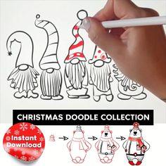 Christmas Tree Art, Christmas Arts And Crafts, Christmas Doodles, Xmas Crafts, Kids Christmas, Handmade Christmas, Christmas Cards, Xmas Drawing, Christmas Drawing