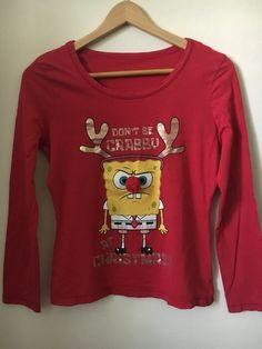 Moje Vánoční triko se Spongebobem a bambulkou od George! Velikost 38 / 10 / S/M za100 Kč. Mrkni na to: http://www.vinted.cz/damske-obleceni/s-dlouhym-rukavem/13189701-vanocni-triko-se-spongebobem-a-bambulkou.