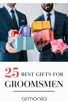 We made a comprehensive list of best gifts for your groomsmen that are also affordable. Show appreciation for your best men and groomsmen with one of these gifts on your special day. Wedding Gifts For Parents, Gifts For Wedding Party, On Your Wedding Day, Pallet Wedding, Wedding Groom, Groom And Groomsmen Looks, Wedding Designs, Wedding Ideas, Parent Gifts