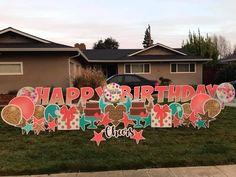Birthday Decorations, Birthday Ideas, Birthday Parties, Infinity Signs, Birthday Yard Signs, Yard Party, Funny Cards, Ideas Para, Graham
