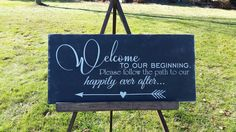 Hey, I found this really awesome Etsy listing at https://www.etsy.com/listing/490185713/welcome-to-our-wedding-sign-personalized