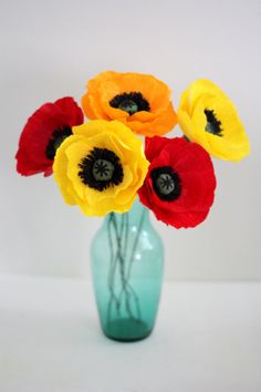 Paper poppy ,paper flowers,paper poppies for wedding,home and special occasion