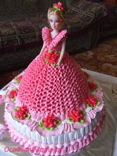 super ideas for cupcakes decoration princess doll cakes Barbie Birthday Cake, Happy Birthday Cakes, Birthday Cake Girls, Barbie Torte, Bolo Barbie, Barbie Cake Designs, Dress Cake, Cake Pictures, Cake Decorating Tips
