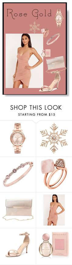 """""""Rose Gold"""" by cutegoth ❤ liked on Polyvore featuring Michael Kors, John Lewis, Givenchy, Charlotte Russe, Missguided, Verali and Bulgari"""