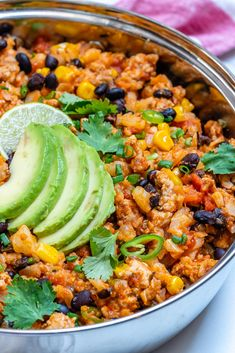 This Taco Cauliflower Rice Skillet is Bursting with Flavor! | Clean Food Crush