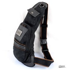 black One strap backpack