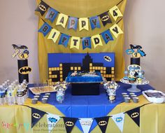 Nice Ideas Batman Baby Shower Decorations Baby Shower Batman Baby Shower Decorations Batman Baby Shower Design Ideas Of Superhero Birthday Party Decorations Lego Batman Party, Batman Birthday, Superhero Birthday Party, 4th Birthday Parties, Birthday Party Decorations, Boy Birthday, Birthday Table, Happy Birthday, Birthday Crafts