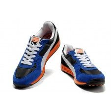 Puma Usain Bolt Blue White Orange Men Running Shoes