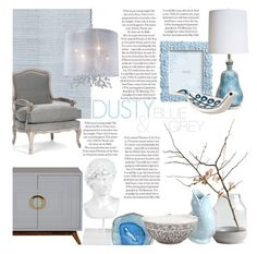"""""""Pastel Blue - Fall 2014"""" by rachaelselina ❤ liked on Polyvore featuring interior, interiors, interior design, home, home decor, interior decorating, Grasslands Road, Couture Lamps, Zara Home and Jonathan Adler"""