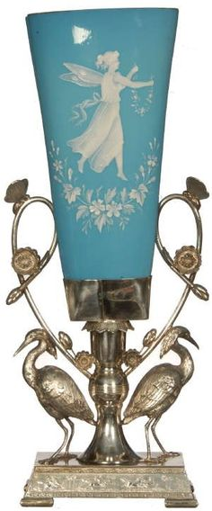Victorian Mary Gregory-style vase-I believe this is a celery vase.
