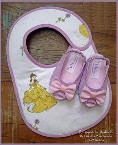 Kit para bebê contendo: 1 sapatinho (disponíveis nos tamanhos:  0-3 meses; 3-6…