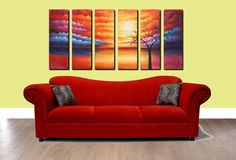 Abstract Modern Fine Art Oil Paintings For Walls  +Code: 040  +Size::20*80cm*5(8*32inch*5)  +High quality! 100% Hand Painting Art For Wall Decor Canvas Oil Painting for dining room & livingroom& bedroom  +No frame  +6 panel    *Discount 15% for shipping using China Post.  *Contact us to get frame...