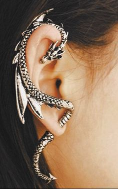 DRAGON EAR CUFF right ear wrap. $20.00, via Etsy.
