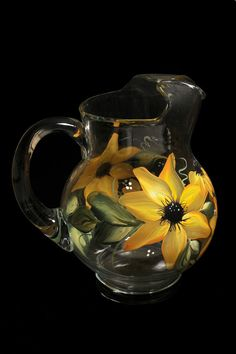 Hey, I found this really awesome Etsy listing at https://www.etsy.com/listing/172426119/hand-painted-decanters-and-pitchers Glass Jug, Glass Pitchers, Carafe, Decanter, Lighted Wine Bottles, Bottle Lights, Long Stem Wine Glasses, Glass Engraving, Bottle Cutting