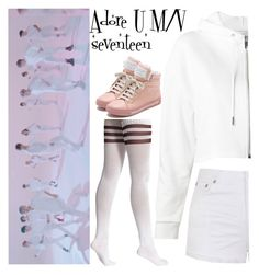 """Adore U M/V seventeen"" by llavenderdreams77 ❤ liked on Polyvore featuring American Apparel, Yves Saint Laurent, Ally Fashion, Marc by Marc Jacobs, kpop, seventeen, adoreu and adoreumv"
