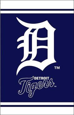 Detroit Tigers Fiber Optic Garden Flag