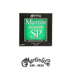 Martin MSP4000 SP 92-8 Phosphor Bronze Acoustic Strings - Extra Light