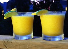 Mango Banana Daquiris | Pink Parlsey Blog