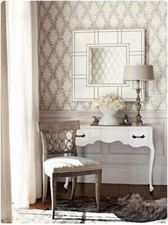 Thibaut Wallcoverings and Fabrics - eclectic - Wallpaper - Columbus - Home Source Custom Draperies & Blinds Eclectic Wallpaper, Neutral Wallpaper, Of Wallpaper, Harlequin Wallpaper, Bedroom Wallpaper, Designer Wallpaper, Vestibule, Bedroom Table, Bedroom Ideas