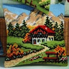 cross stitch landscape patterns free - Google Search