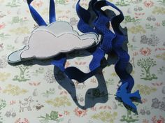 Sparrow in the CLOUDS Hair Bow Clip Accessory Holder Organizer