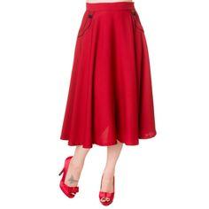 Prachtige luchtige Rode rok tot kniehoogte. Lekker luchtig voor de zomer.