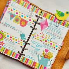 planner love. use scrapbook and paper crafting materials in planner
