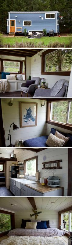 Tiny Traveling Farmhouse: designed for tailgate parties and traveling!