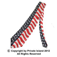 Privateislandparty.com - USA Flag Patriotic Tie 6802 $4.99 This Satin Polyester Blend USA Flag Patriotic Tie will make you the most patriotic guy at the party! Also great for the office when showing your pride on any particular day. Made of high quality satin polyester, this tie will show everybody who loves USA the most.