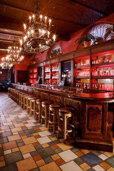 Interior shot. Cuban bar