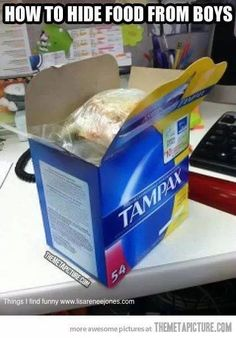 Need to do this! maybe it will keep the guys out of my snacks. LOL