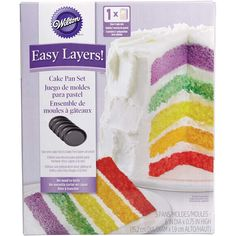 "Save yourself the trouble of torting your cakes to make a trendy tall, multi-layer cake. With this set of 6 in. pans, you can make a five-layer cake with ease for a definite ""wow"" factor!"
