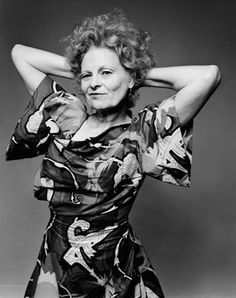 On April 8th in 1941, designer Vivienne Westwood was born! Known for her shockingly orange hair and eccentric fashions, she revolutionized and mainstreamed punk style. Subscribe to daily Fashion History facts on our blog! #fashion #designer #tifh