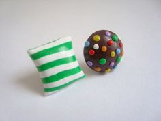 candy crush stud earrings by beadhappy08 on Etsy, $7.00