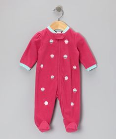 Take a look at this Pink Cupcake Footie - Infant on zulily today!
