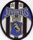 Juventus Retro 80's / 90's Football Badge Patch 6.5cm x 7.6cm Oval www.wovenbadge.com