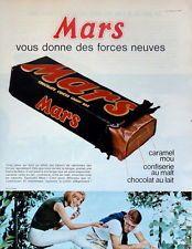 1965 - MARS - Chocolat Sport Publicité Vintage Ads