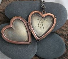 Let yourself open up a little bit more today. Yes. :: open up and live . a whispered soul mantra heart locket