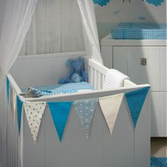 Bunting around baby's cot #cute