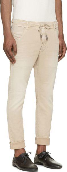 Diesel for Men Collection Jogg Jeans, Workout Wear, Mens Fitness, Diesel, Sportswear, Khaki Pants, Menswear, Beige, Mens Fashion