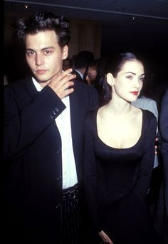 Johnny Depp and Winona Ryder in 1990